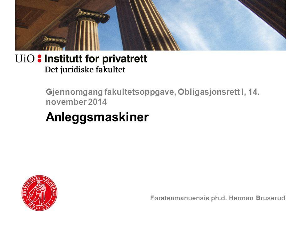 Gjennomgang fakultetsoppgave, Obligasjonsrett I, 14. november 2014