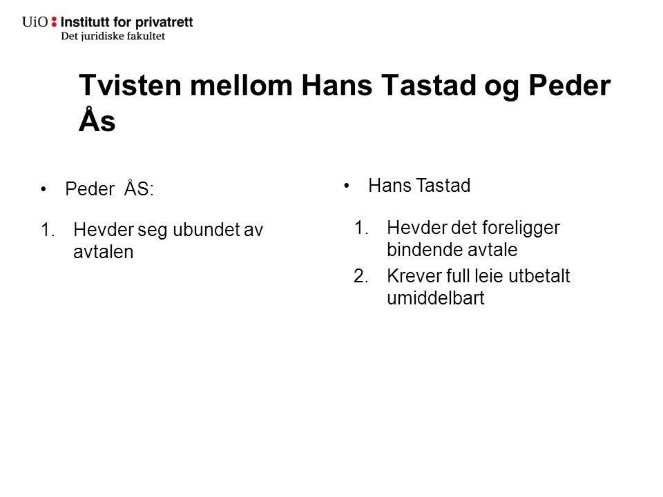 Tvisten mellom Hans Tastad og Peder Ås