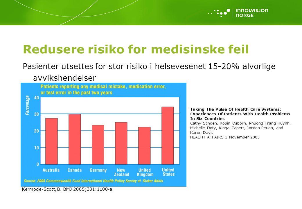 Redusere risiko for medisinske feil