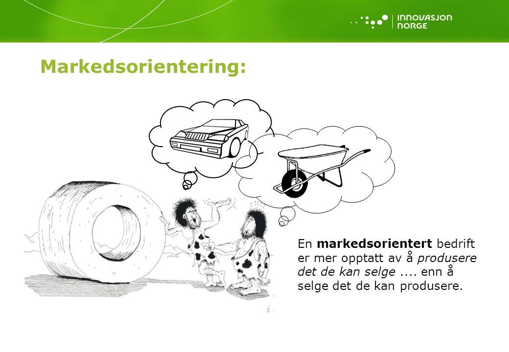 Markedsorientering: En markedsorientert bedrift er mer opptatt av å produsere det de kan selge ....