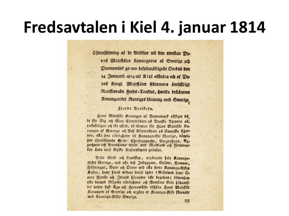 Fredsavtalen i Kiel 4. januar 1814