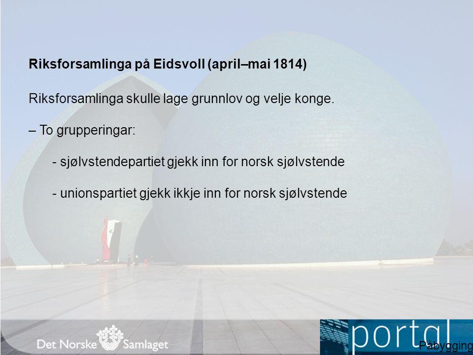 Riksforsamlinga på Eidsvoll (april–mai 1814)