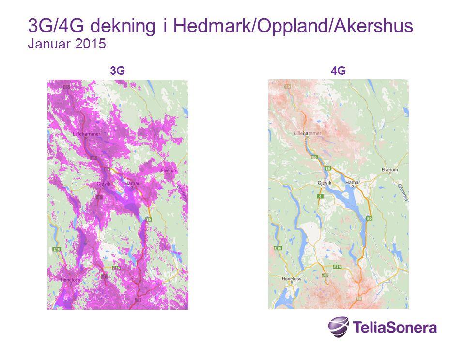 3G/4G dekning i Hedmark/Oppland/Akershus