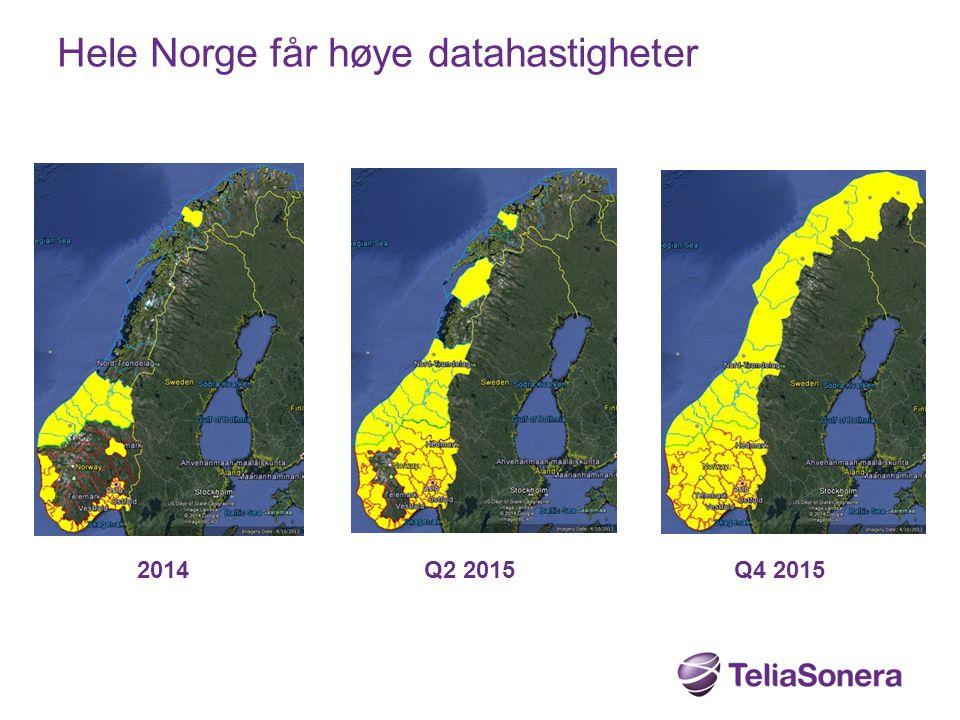 Hele Norge får høye datahastigheter
