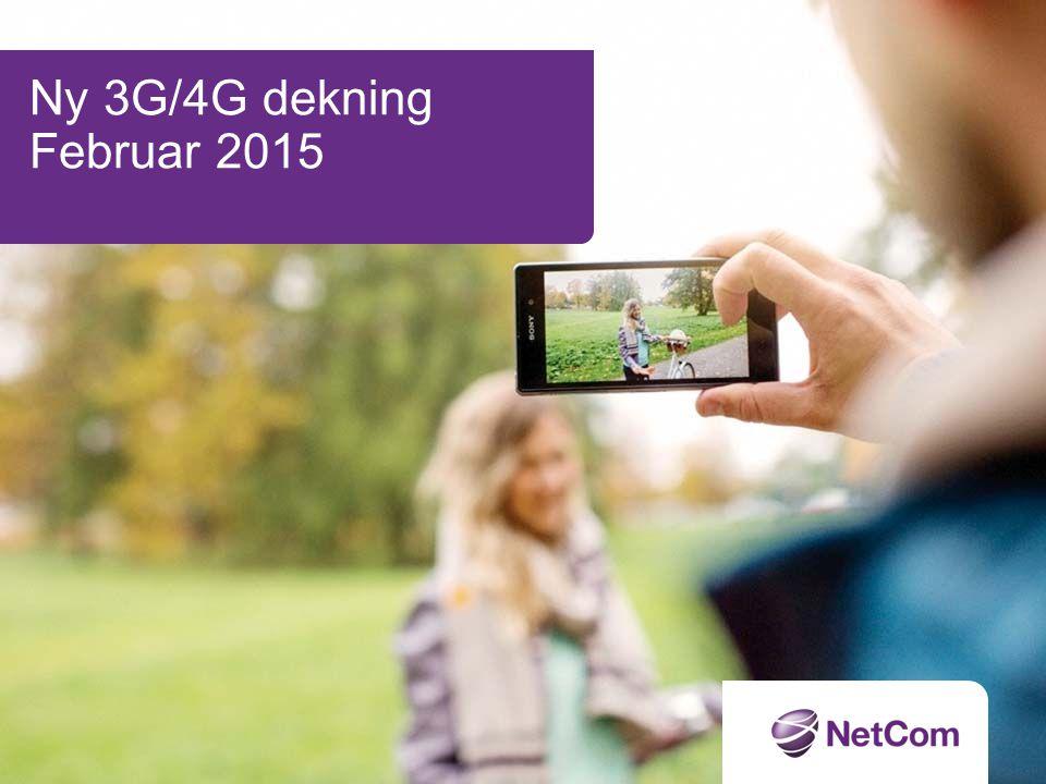 Ny 3G/4G dekning Februar 2015