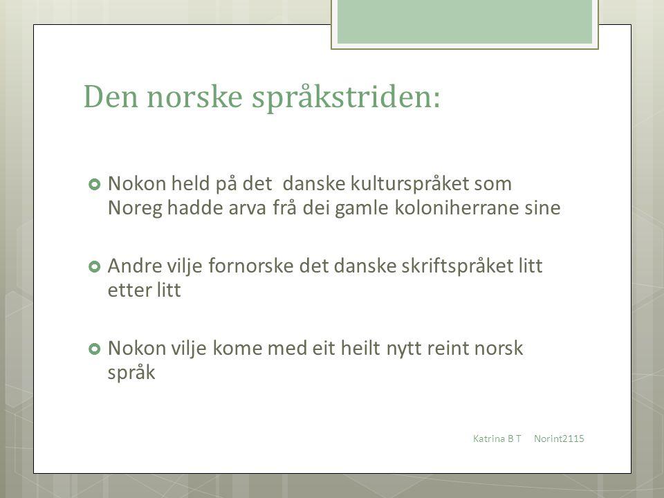 Den norske språkstriden: