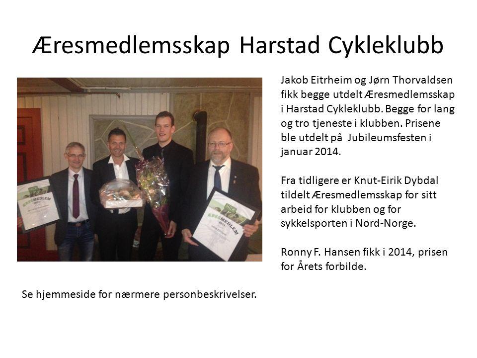 Æresmedlemsskap Harstad Cykleklubb