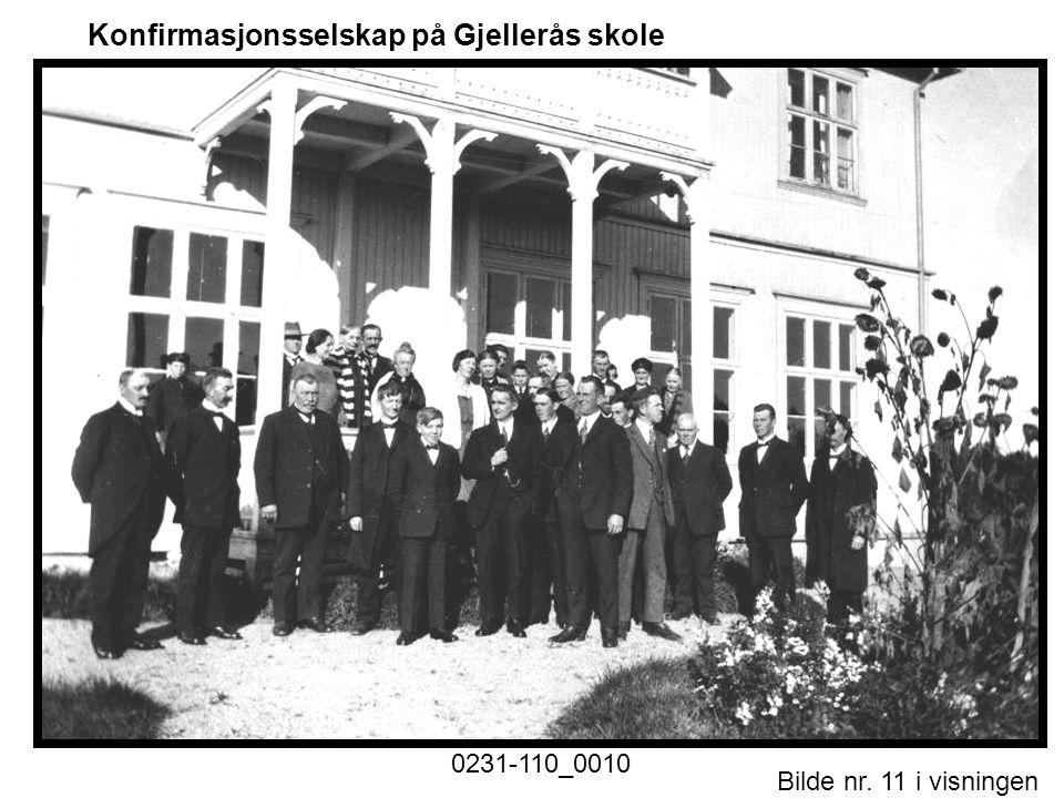 Konfirmasjonsselskap på Gjellerås skole