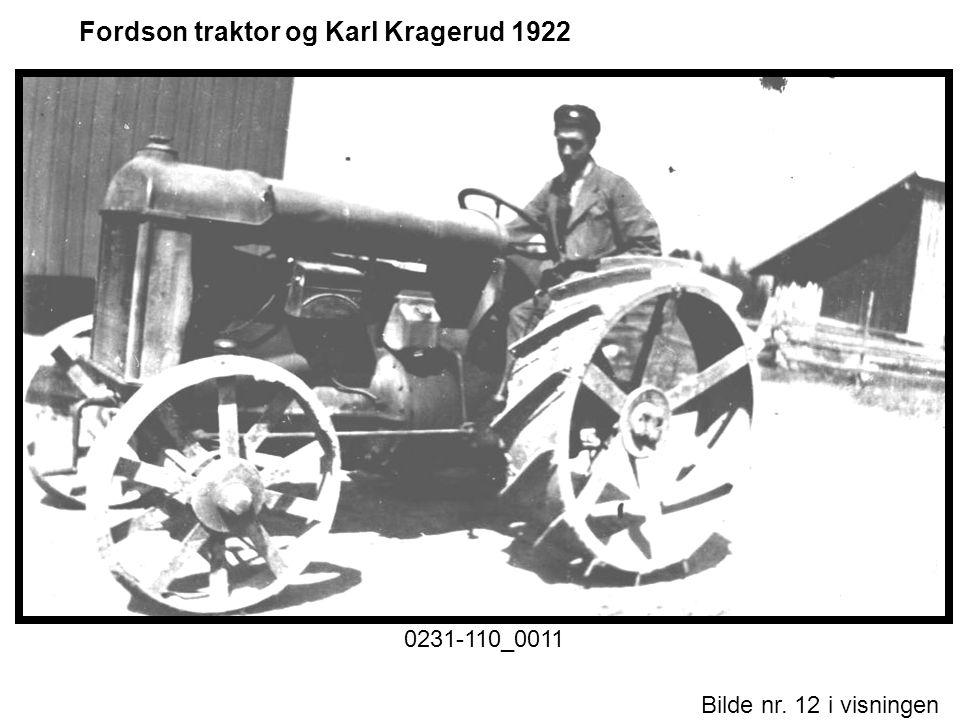 Fordson traktor og Karl Kragerud 1922