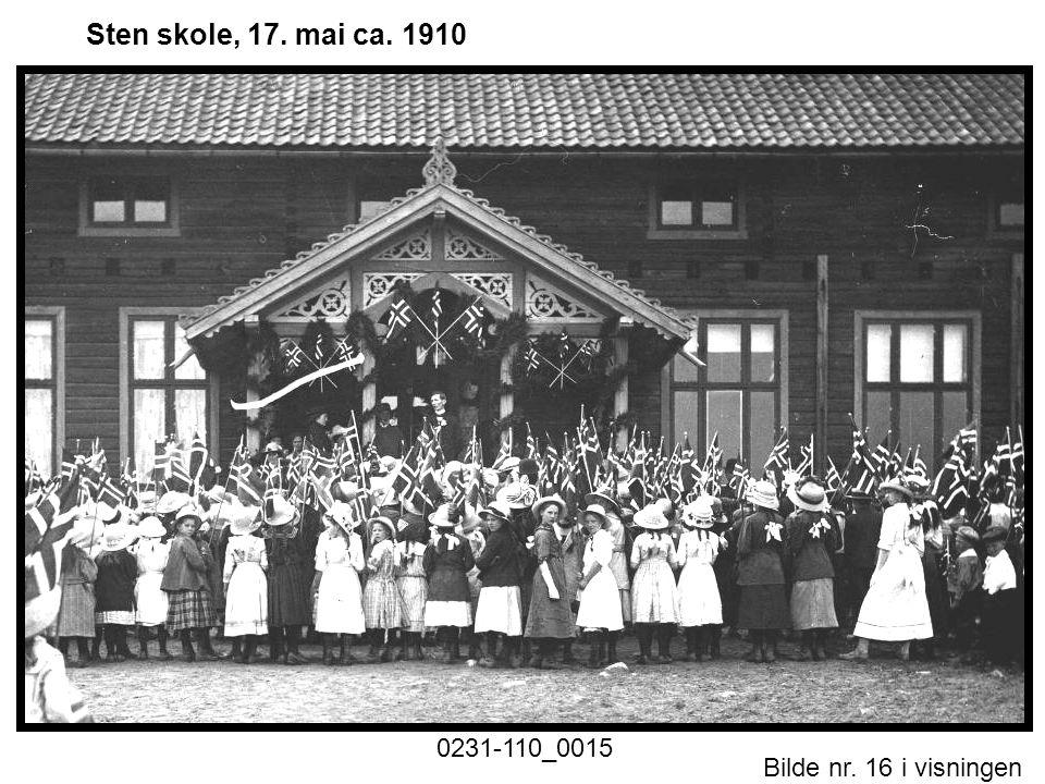 Sten skole, 17. mai ca. 1910 0231-110_0015 Historiske foto nr. 1.ppt