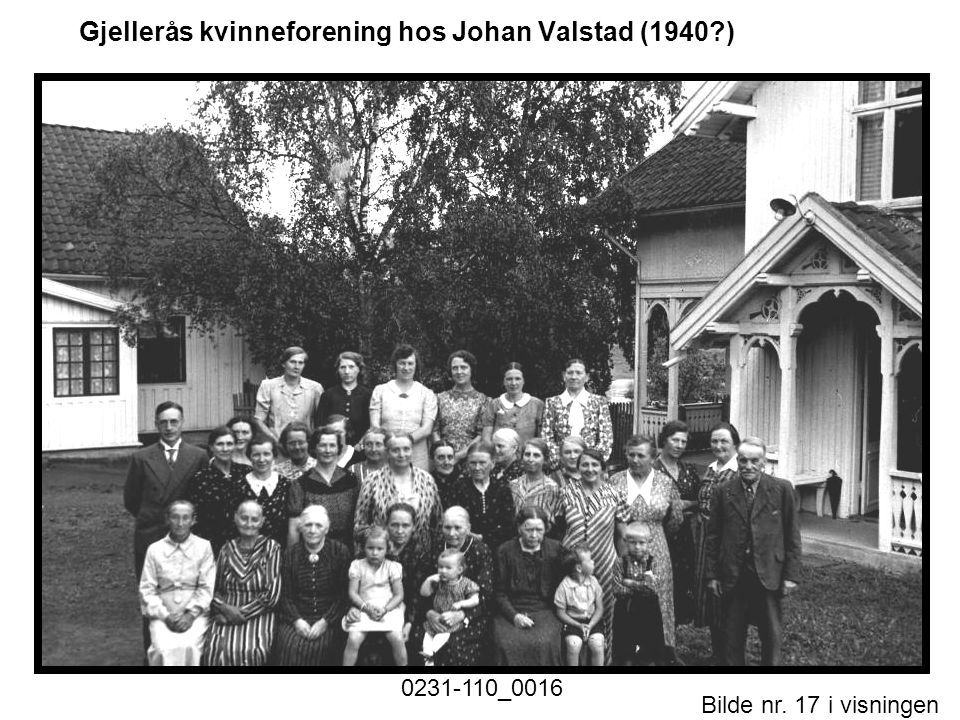 Gjellerås kvinneforening hos Johan Valstad (1940 )