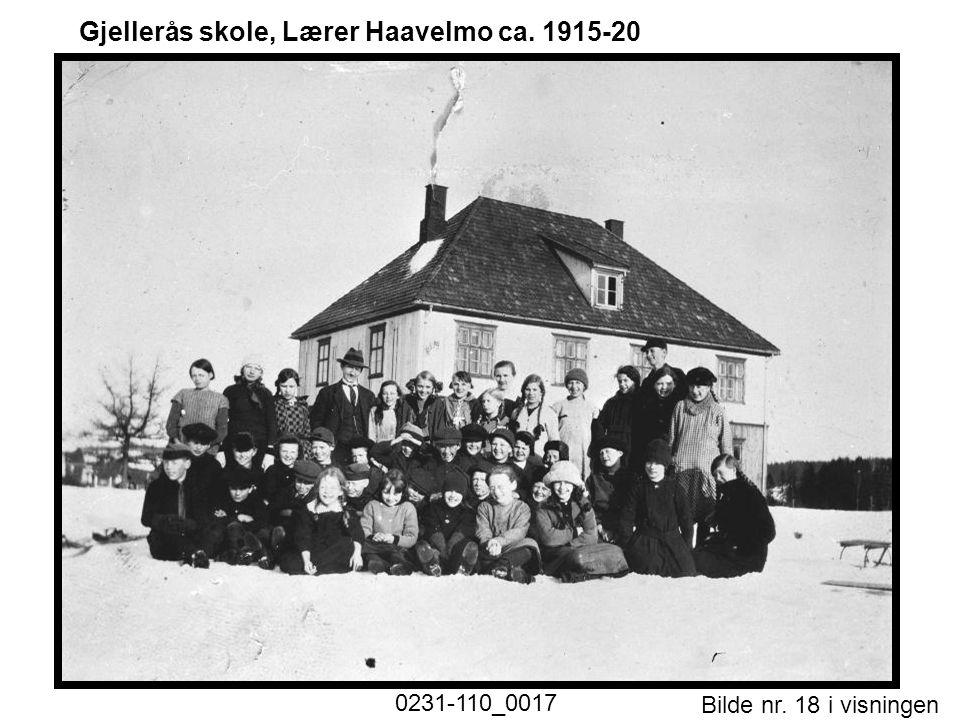Gjellerås skole, Lærer Haavelmo ca. 1915-20