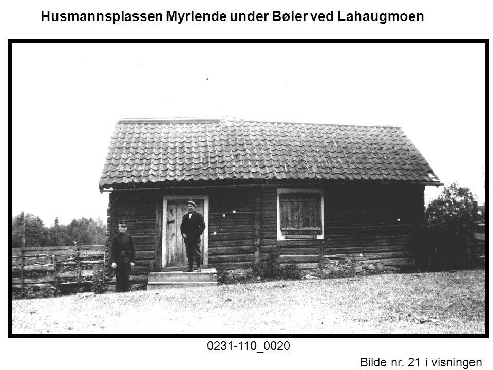 Husmannsplassen Myrlende under Bøler ved Lahaugmoen