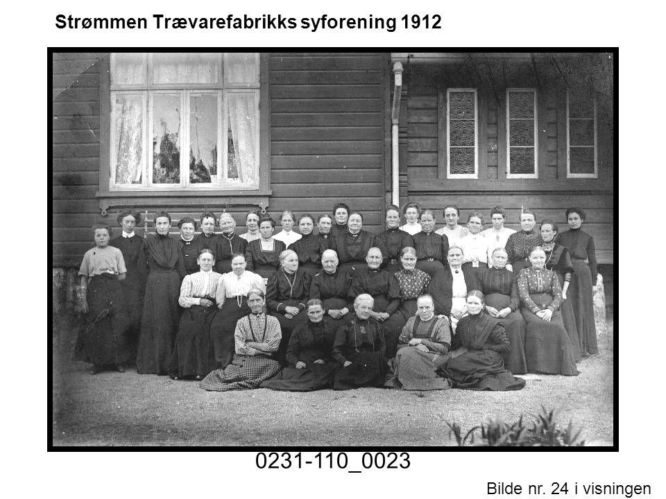 Strømmen Trævarefabrikks syforening 1912