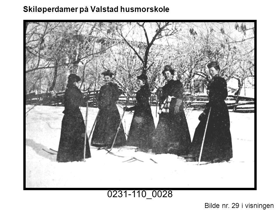 Skiløperdamer på Valstad husmorskole