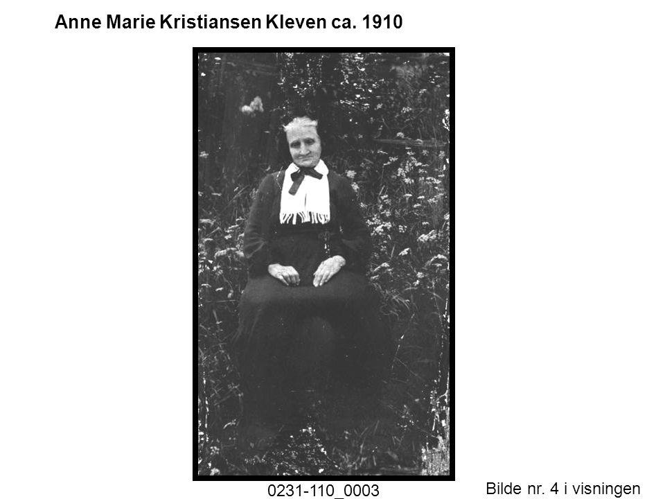Anne Marie Kristiansen Kleven ca. 1910