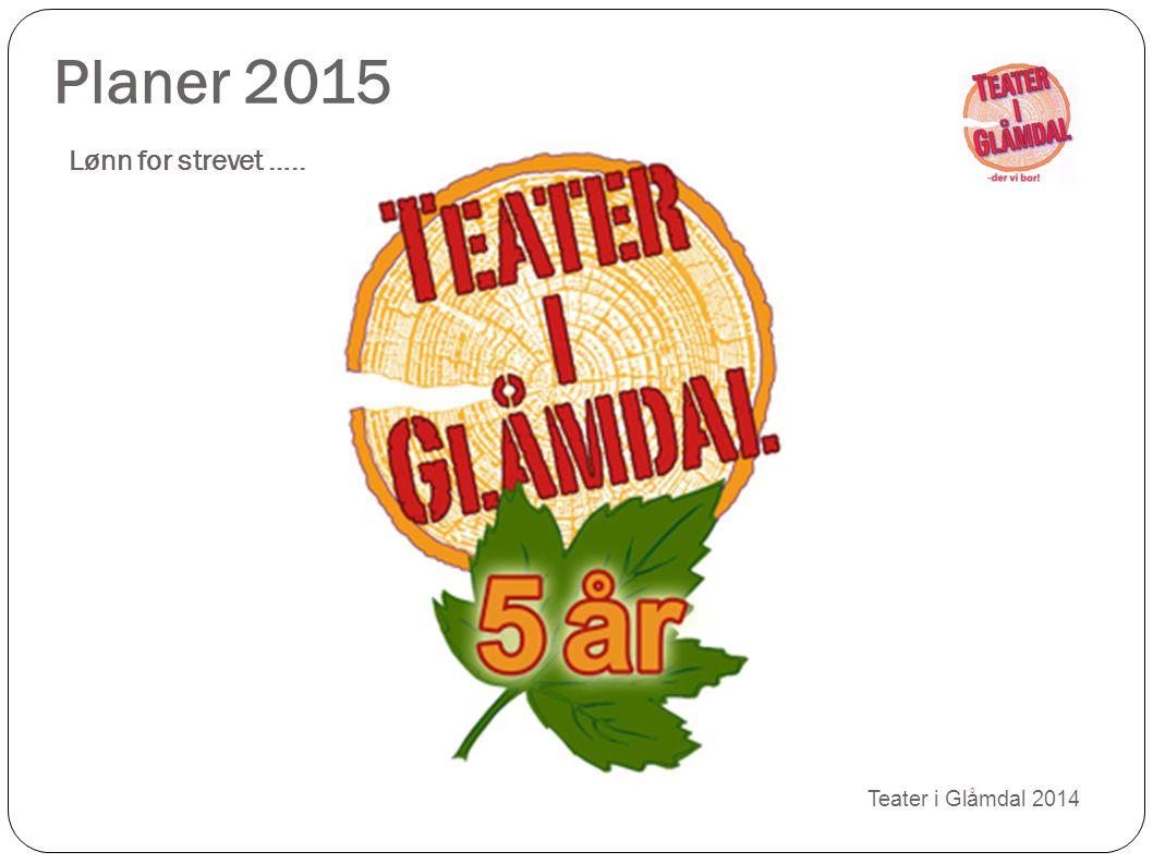 Planer 2015 Lønn for strevet …..