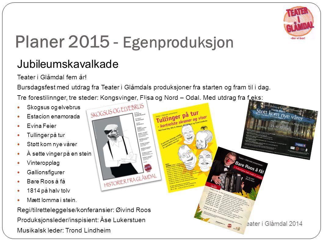 Planer 2015 - Egenproduksjon