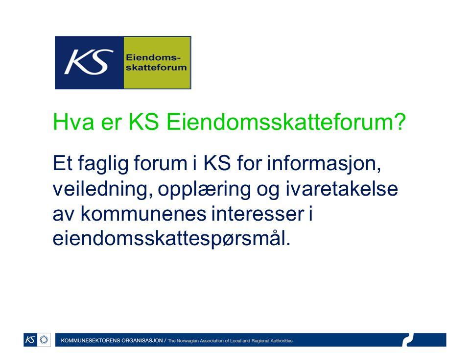 Hva er KS Eiendomsskatteforum