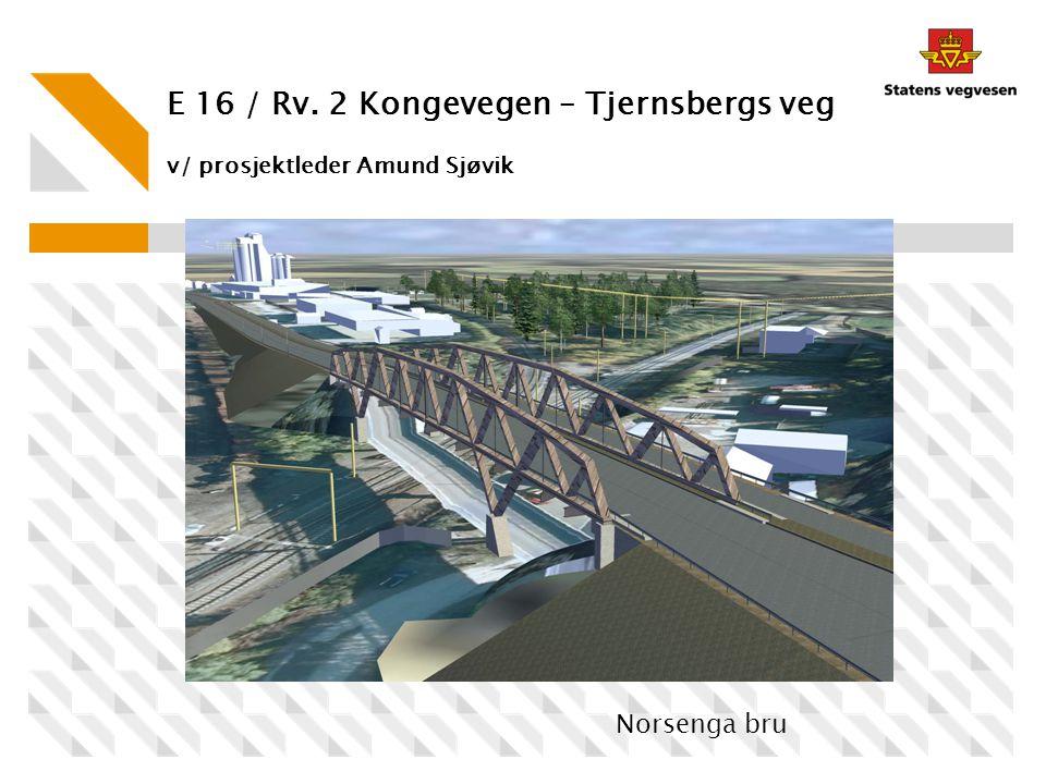 E 16 / Rv. 2 Kongevegen – Tjernsbergs veg v/ prosjektleder Amund Sjøvik
