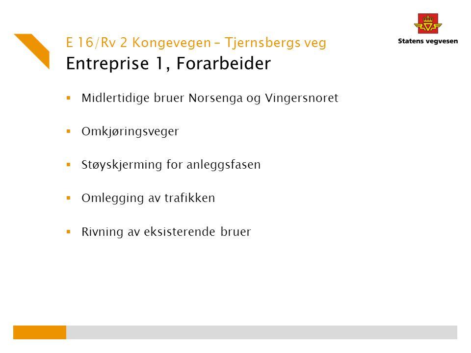 Entreprise 1, Forarbeider
