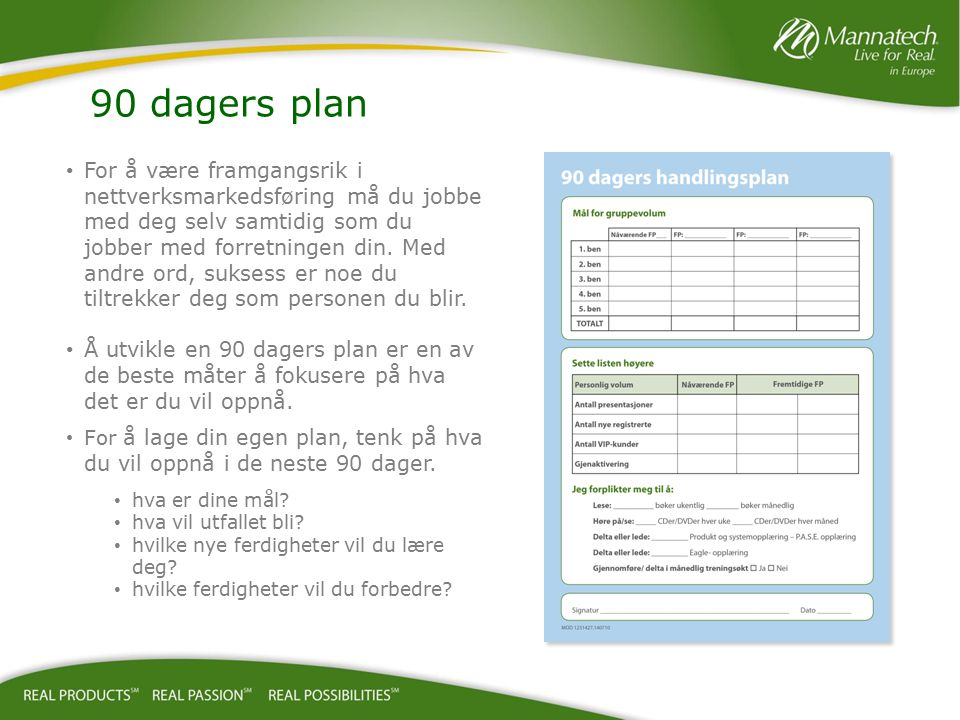 90 dagers plan