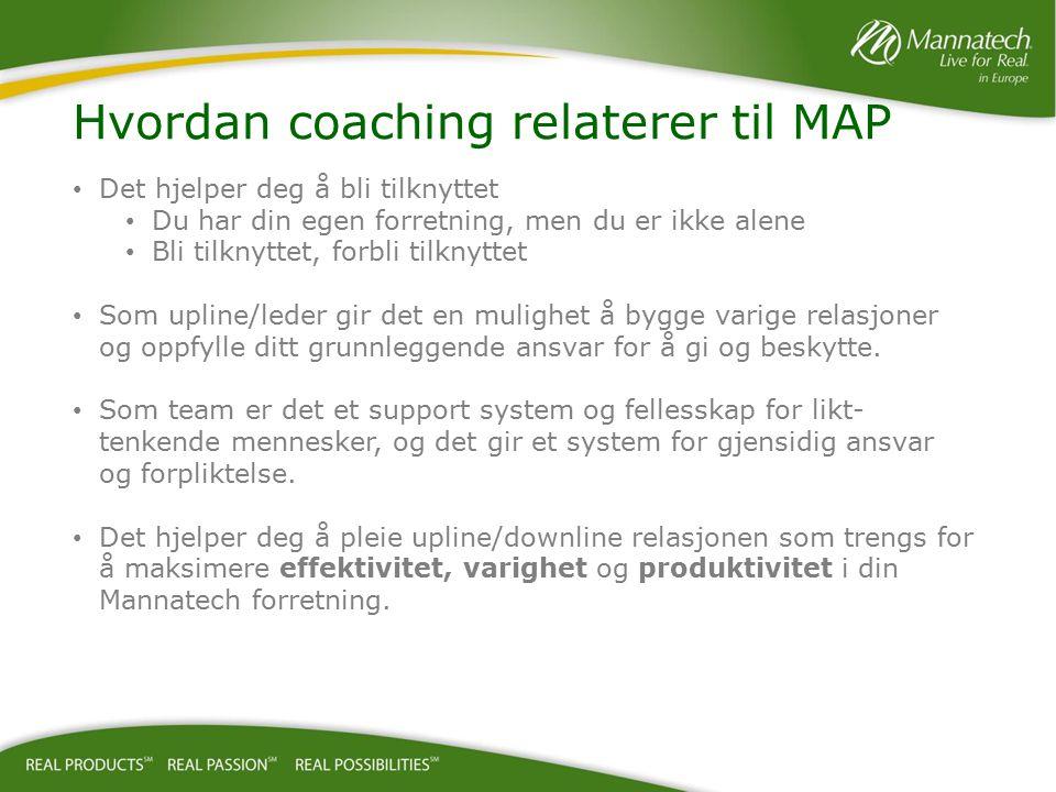 Hvordan coaching relaterer til MAP