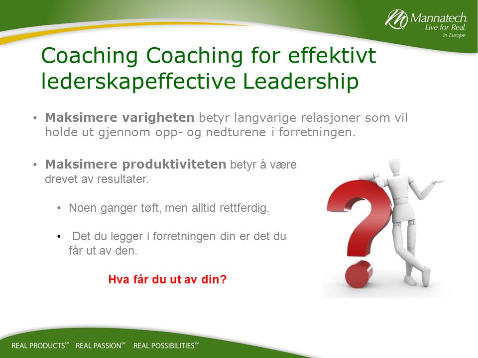 Coaching Coaching for effektivt lederskapeffective Leadership