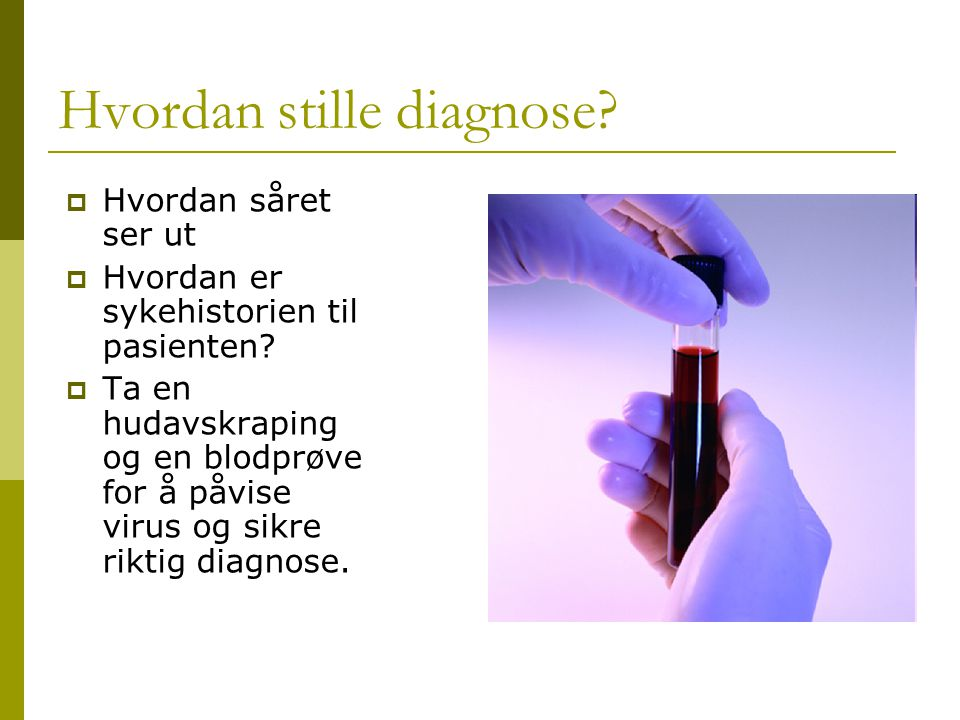Hvordan stille diagnose