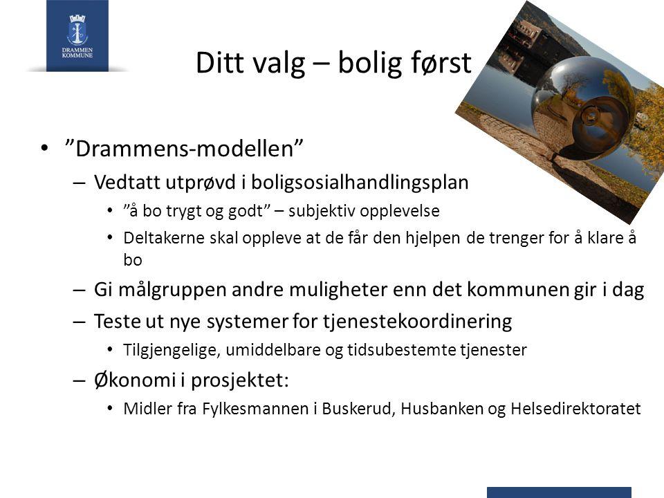 Ditt valg – bolig først Drammens-modellen