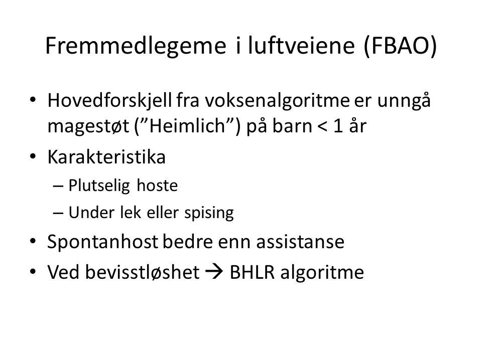 Fremmedlegeme i luftveiene (FBAO)