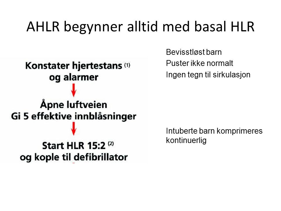 AHLR begynner alltid med basal HLR