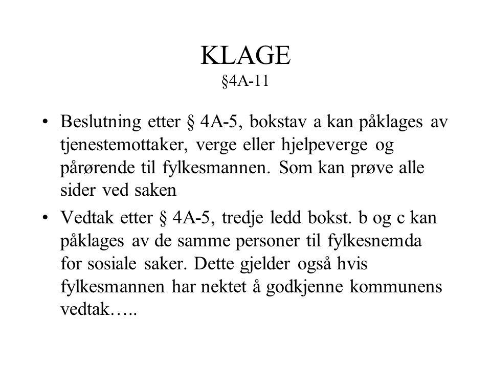 KLAGE §4A-11