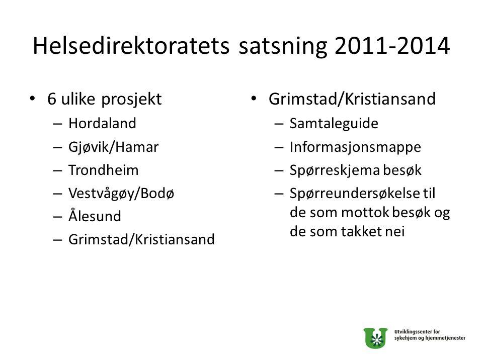 Helsedirektoratets satsning 2011-2014