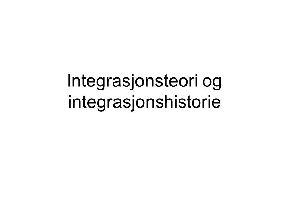 Integrasjonsteori og integrasjonshistorie