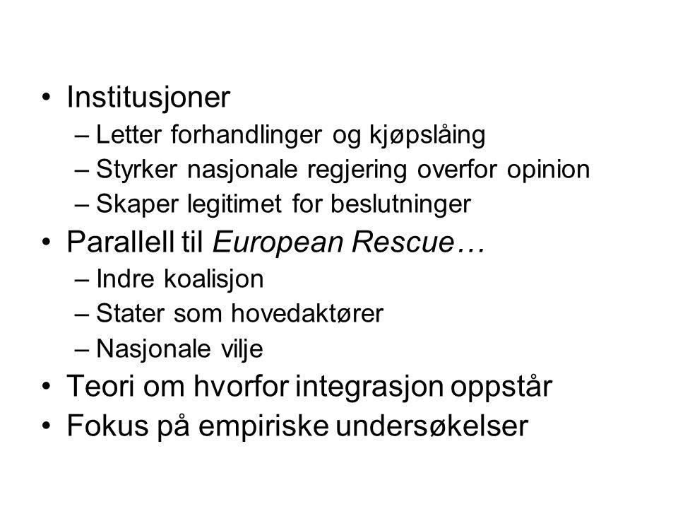 Parallell til European Rescue…