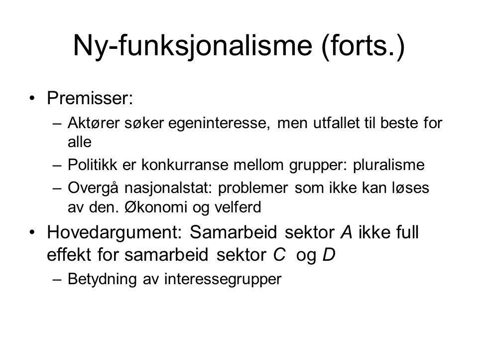 Ny-funksjonalisme (forts.)