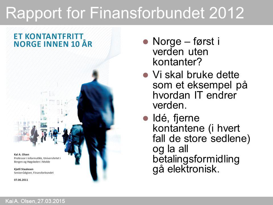 Rapport for Finansforbundet 2012