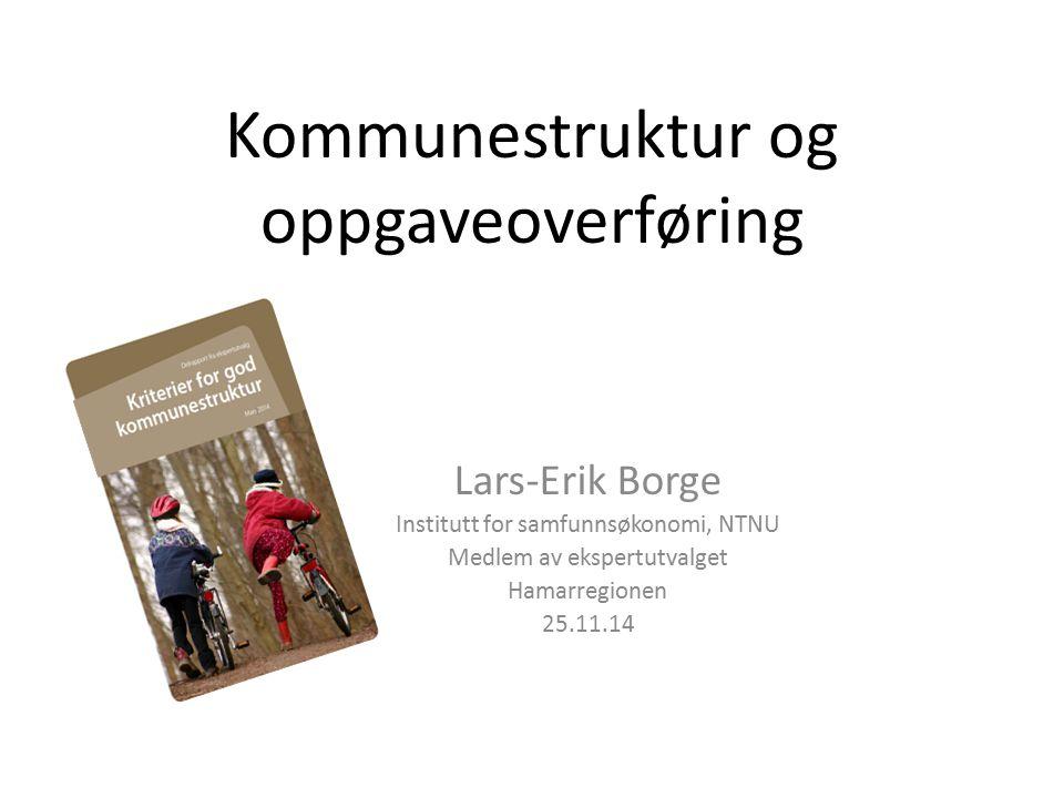 Kommunestruktur og oppgaveoverføring