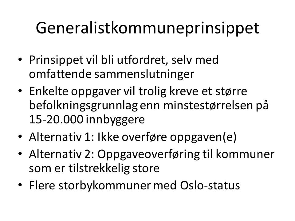 Generalistkommuneprinsippet