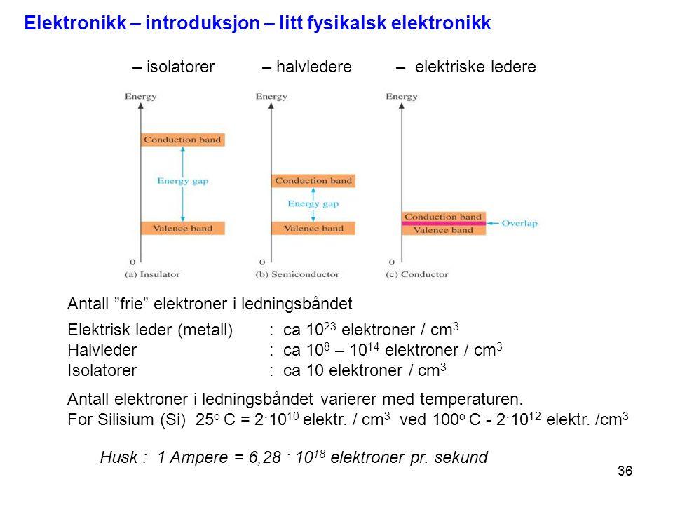 Elektronikk – introduksjon – litt fysikalsk elektronikk