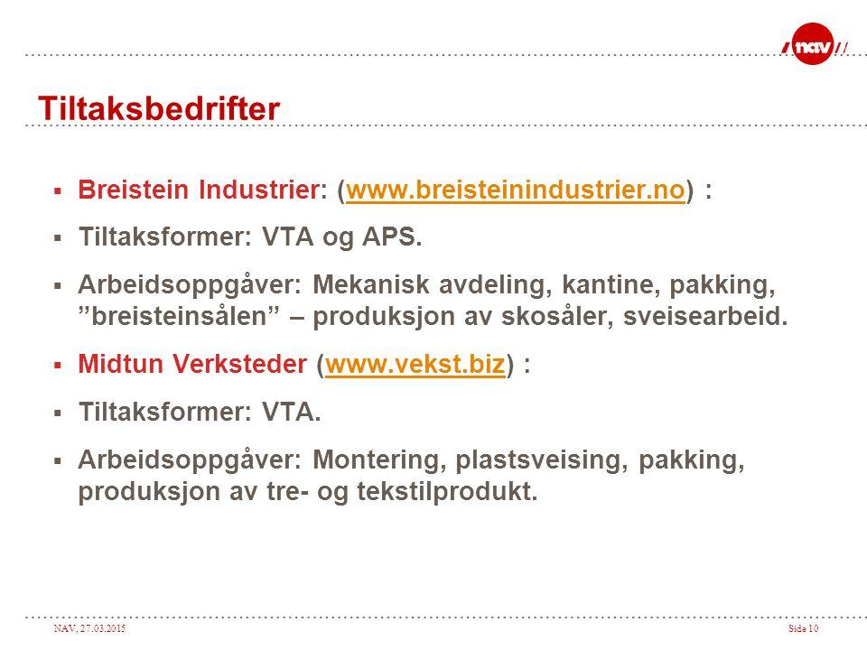 Tiltaksbedrifter Breistein Industrier: (www.breisteinindustrier.no) :