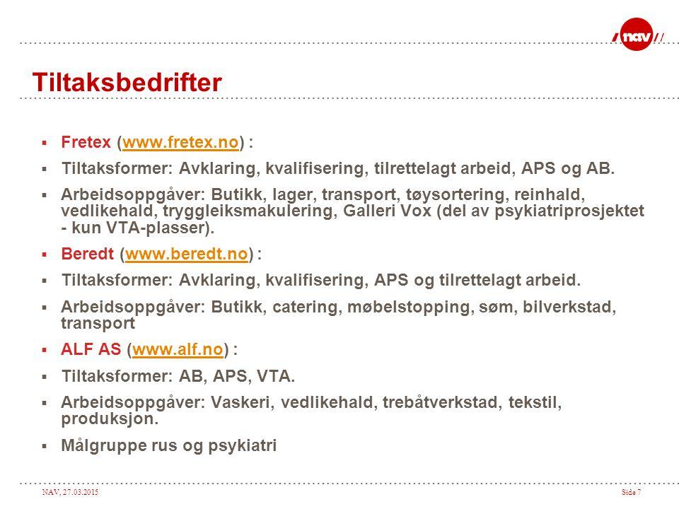 Tiltaksbedrifter Fretex (www.fretex.no) :