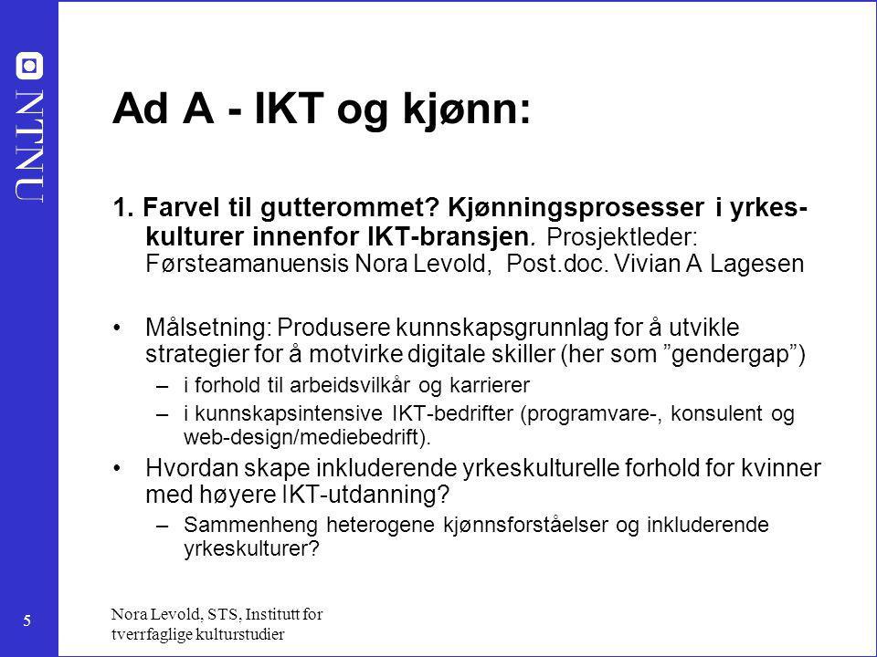 Ad A - IKT og kjønn: