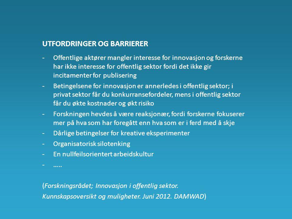 Utfordringer og barrierer
