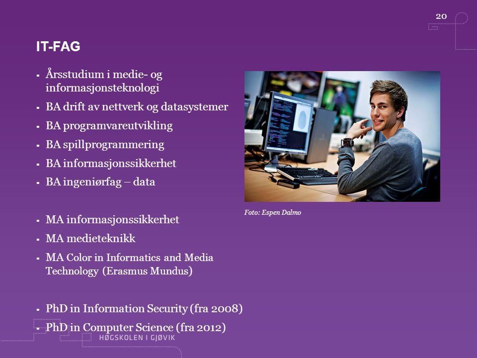 It-fag Årsstudium i medie- og informasjonsteknologi