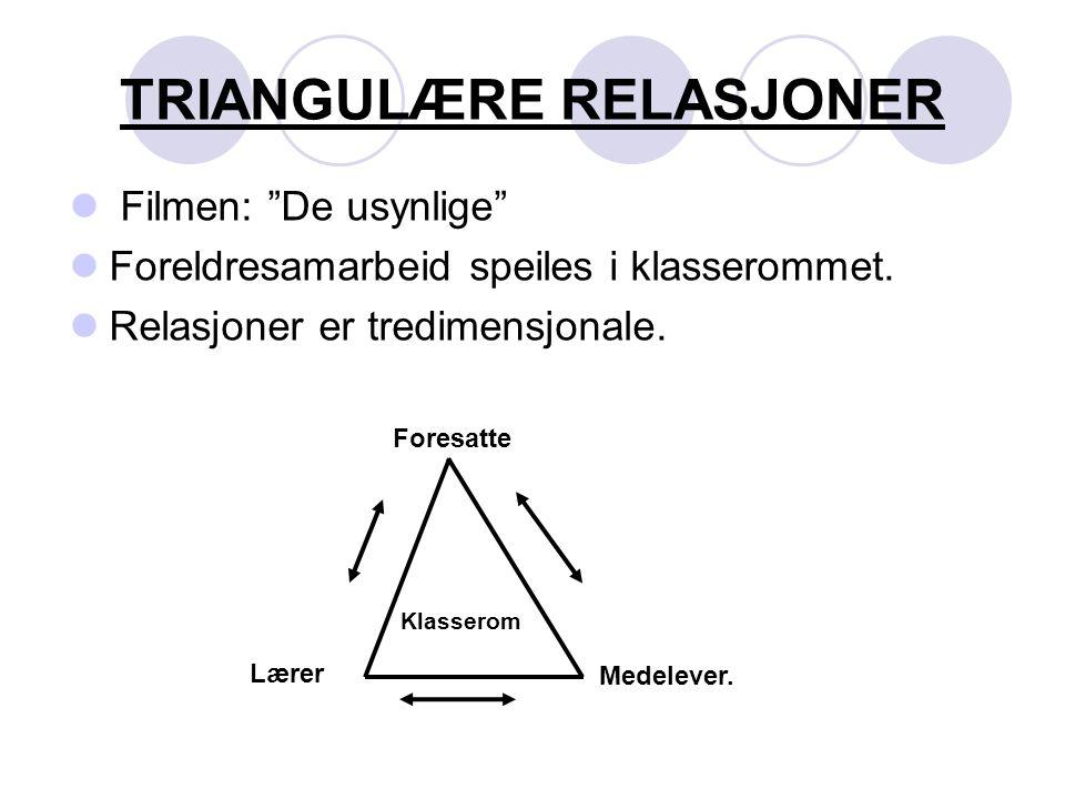 TRIANGULÆRE RELASJONER