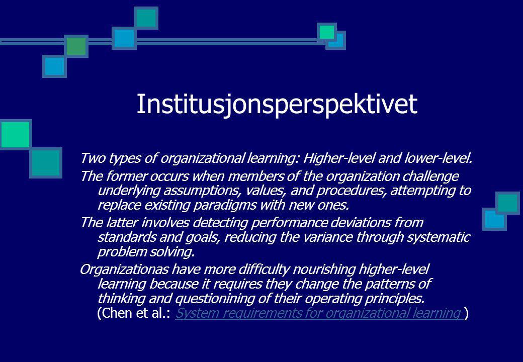 Institusjonsperspektivet