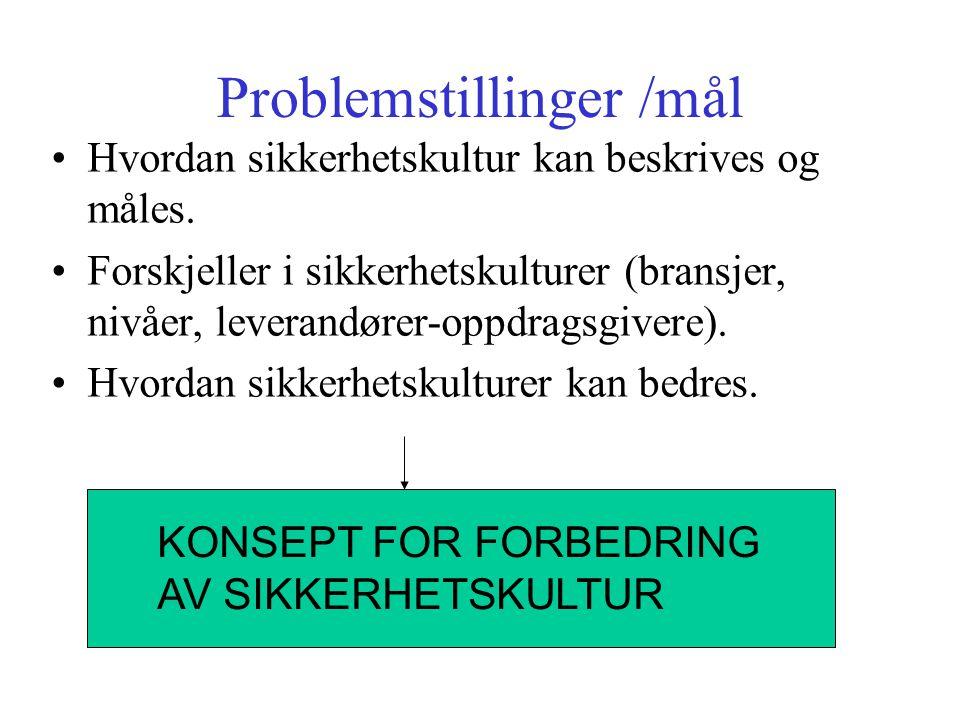 Problemstillinger /mål