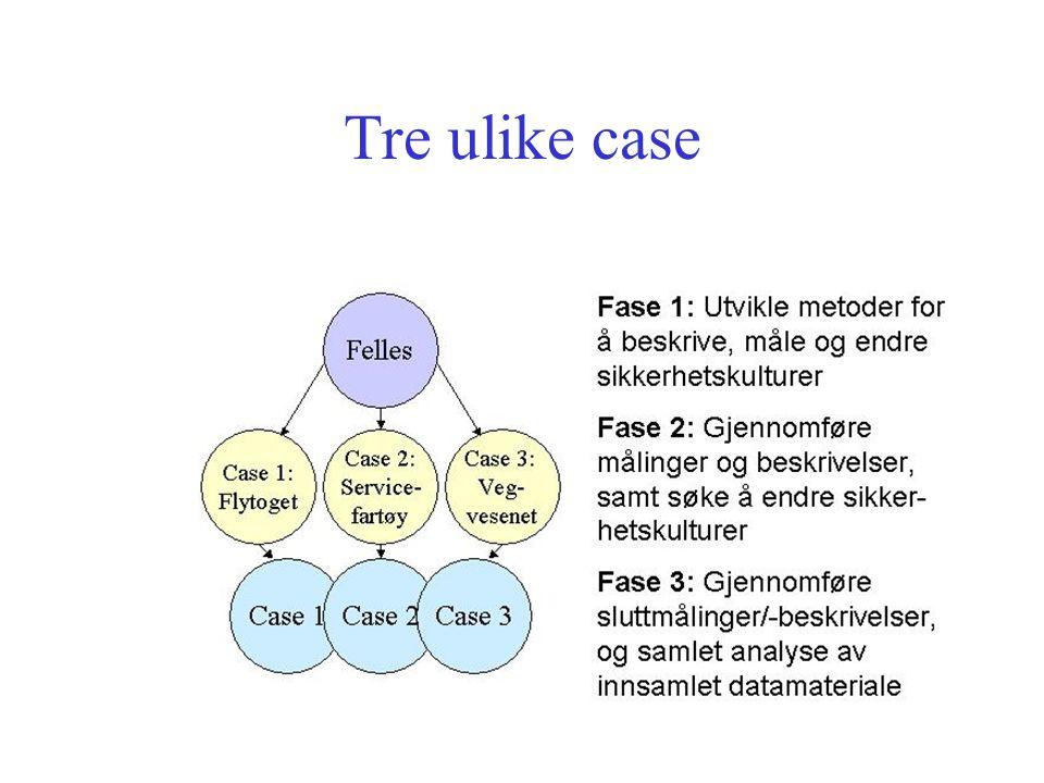 Tre ulike case